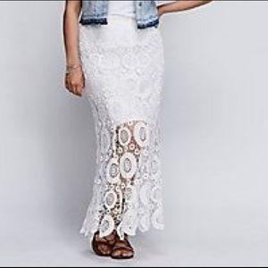 NWOT size 24 Lane Bryant Crochet Maxi Skirt